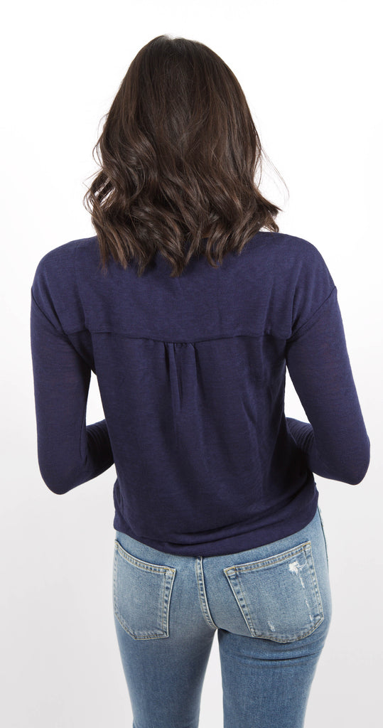 Sienna Mix Top Blue