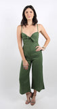 Presley Jumpsuit Plain Moss Green