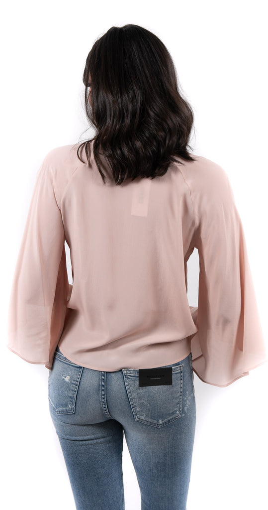 Tie Front Top Blush