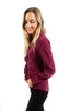 Twist Front Blouse Burgandy