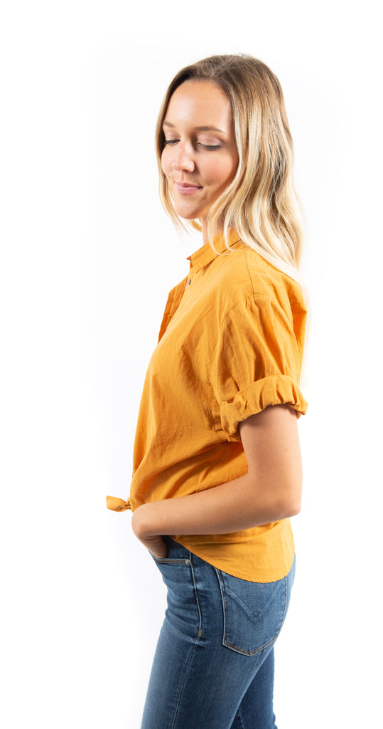 Channing Cotton Blouse Gold