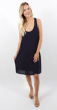 Double Layer Dress Navy