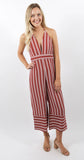 Montague Jumpsuit Rust Stripe