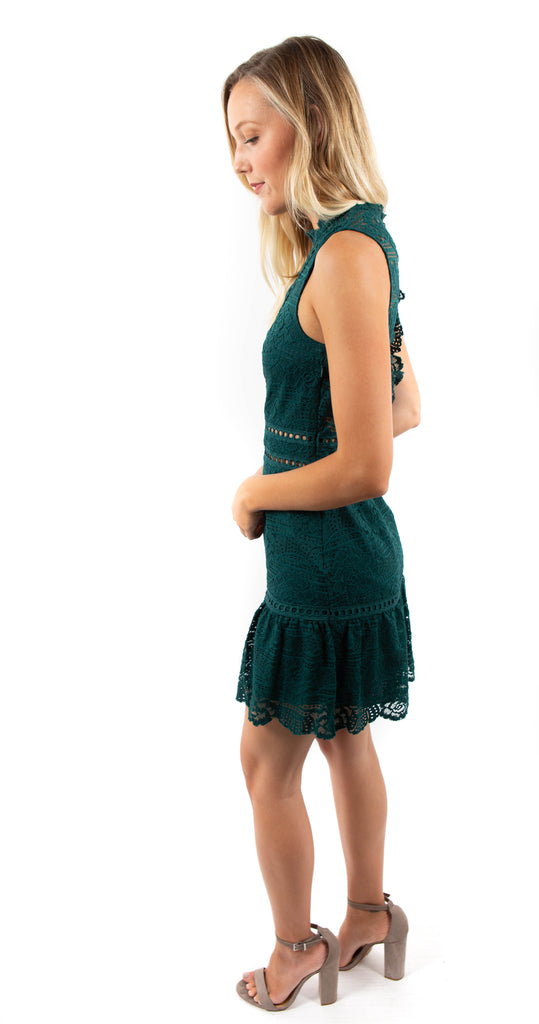 Lace Dress Emerald Rosemary