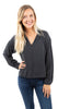 Drop Shoulder Pullover Smoke Pearl