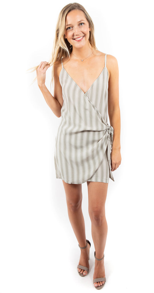 Aspen Mini Dress Sage White