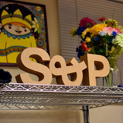 Wooden letters S&P