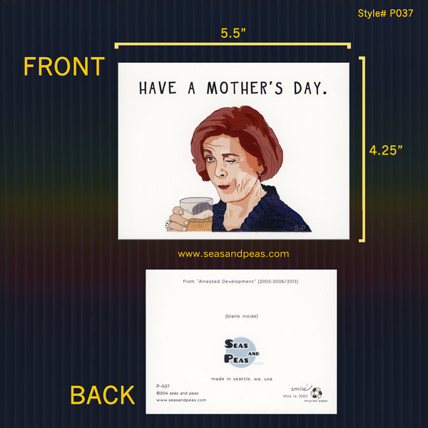 """Arrested Development"" Mother's Day Card - Seas and Peas"
