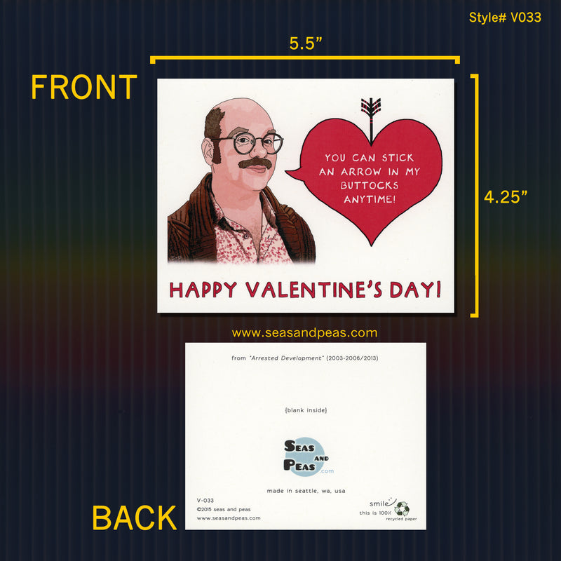 """Arrested Development"" Tobias Valentine Card - Seas and Peas"