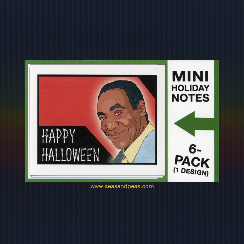 """Demon Bill Cosby"" Mini Flat Halloween Notecard Set"