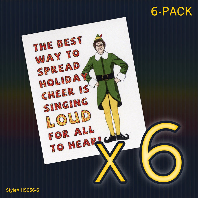 """Elf"" Mini Flat Christmas Notecard Set"