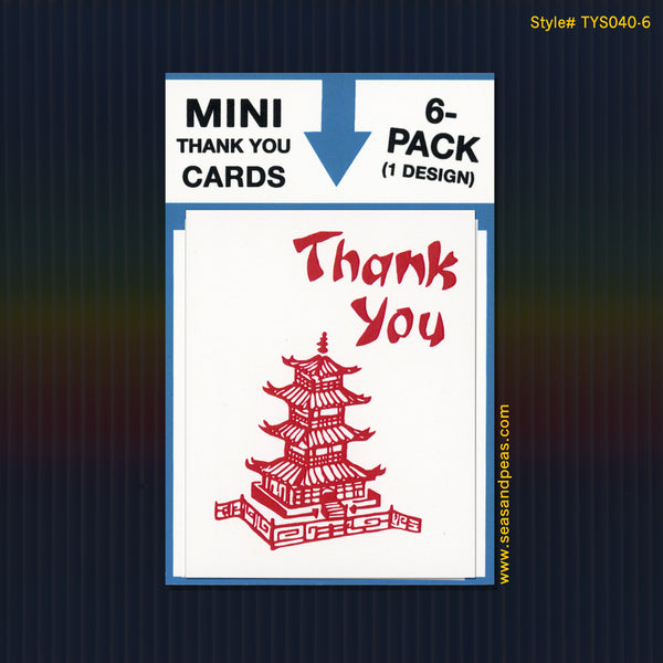 """Chinese Takeout"" Mini Flat Thank You Notes - Seas and Peas"
