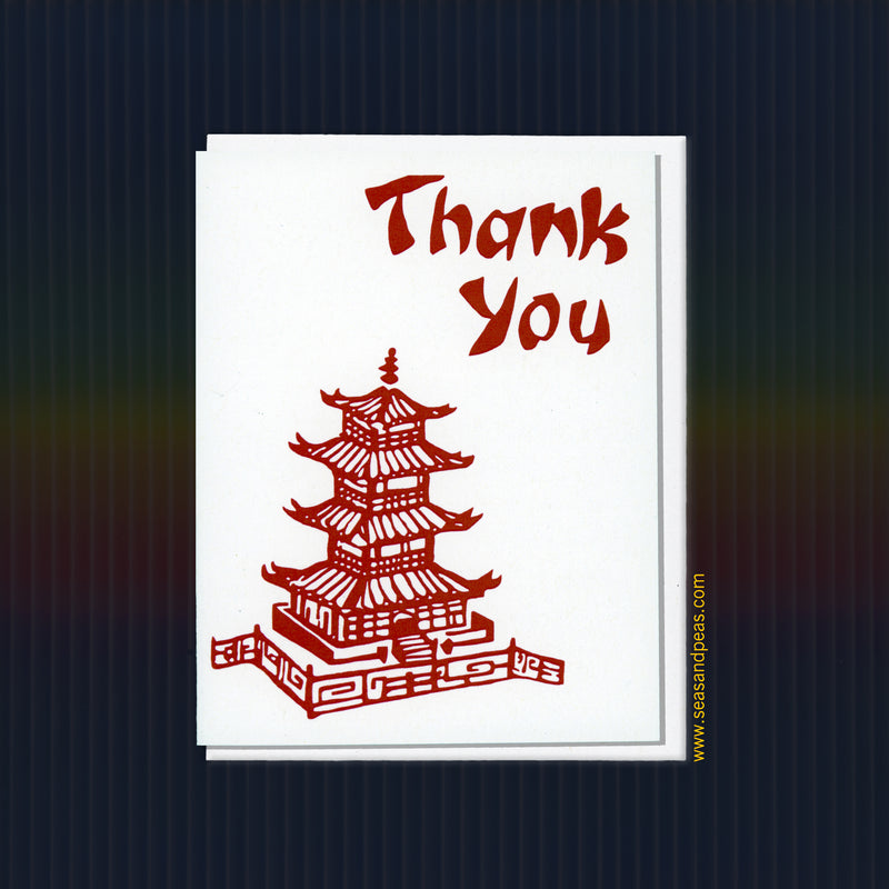 Chinese Takeout Thank You Card - Seas and Peas