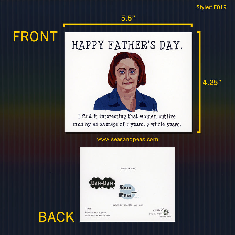 Debbie Downer Father's Day Card - Seas and Peas