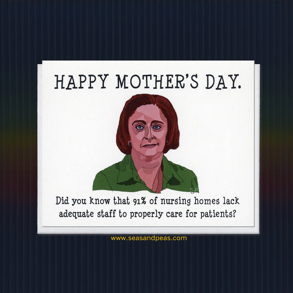 Debbie Downer Mother's Day Card - Seas and Peas