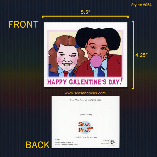 """The Facts of Life"" Galentine Card - Seas and Peas"