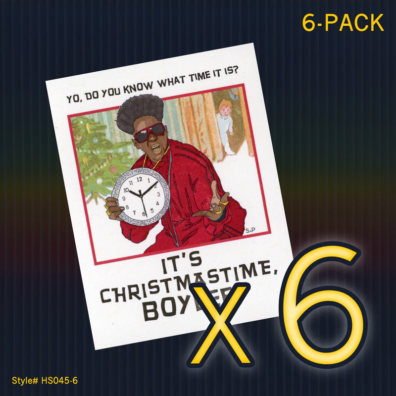 """Flavor Flav"" Mini Flat Christmas Notecard Set"