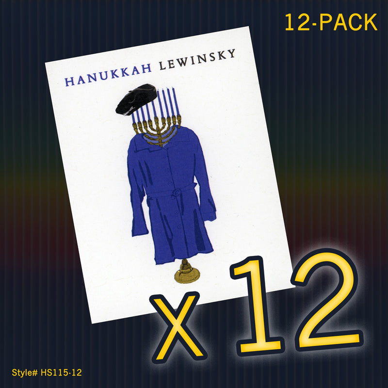 """Hanukkah Lewinsky"" Mini Flat Notecard Set"