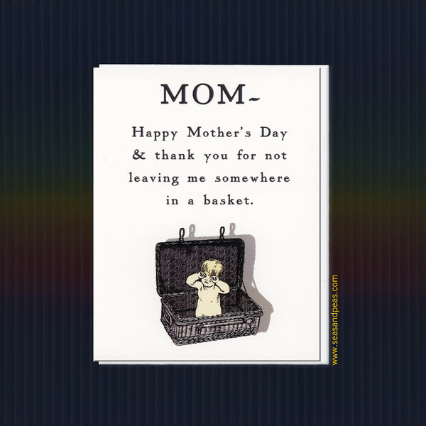 In A Basket Mother's Day Card - Seas and Peas