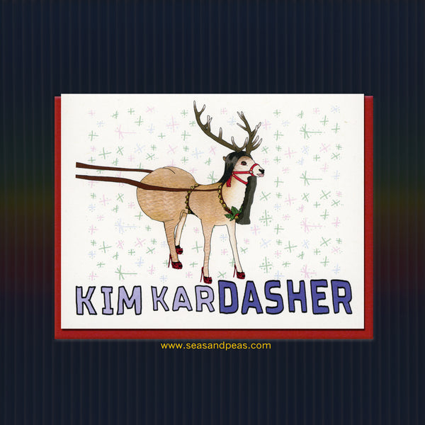 Kim Kardasher Christmas Card - Seas and Peas