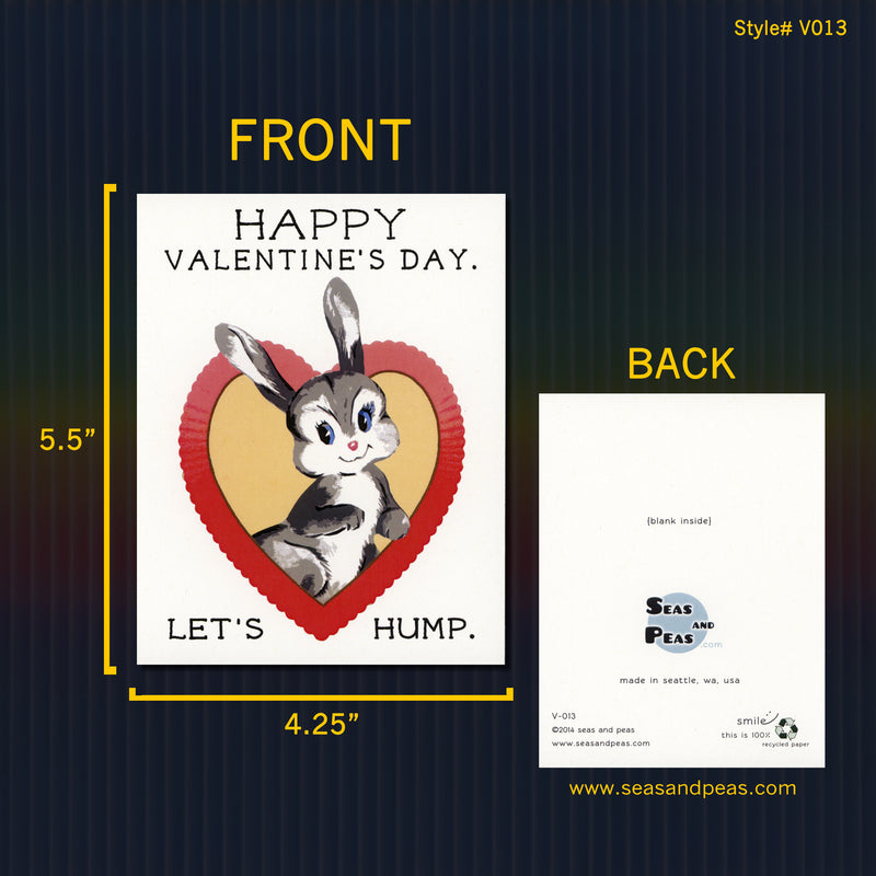 Let's Hump Valentine Card - Seas and Peas