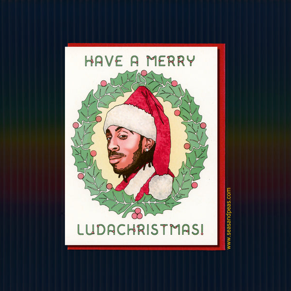 "Merry Ludachristmas ""30 Rock"" Christmas Card - Seas and Peas"