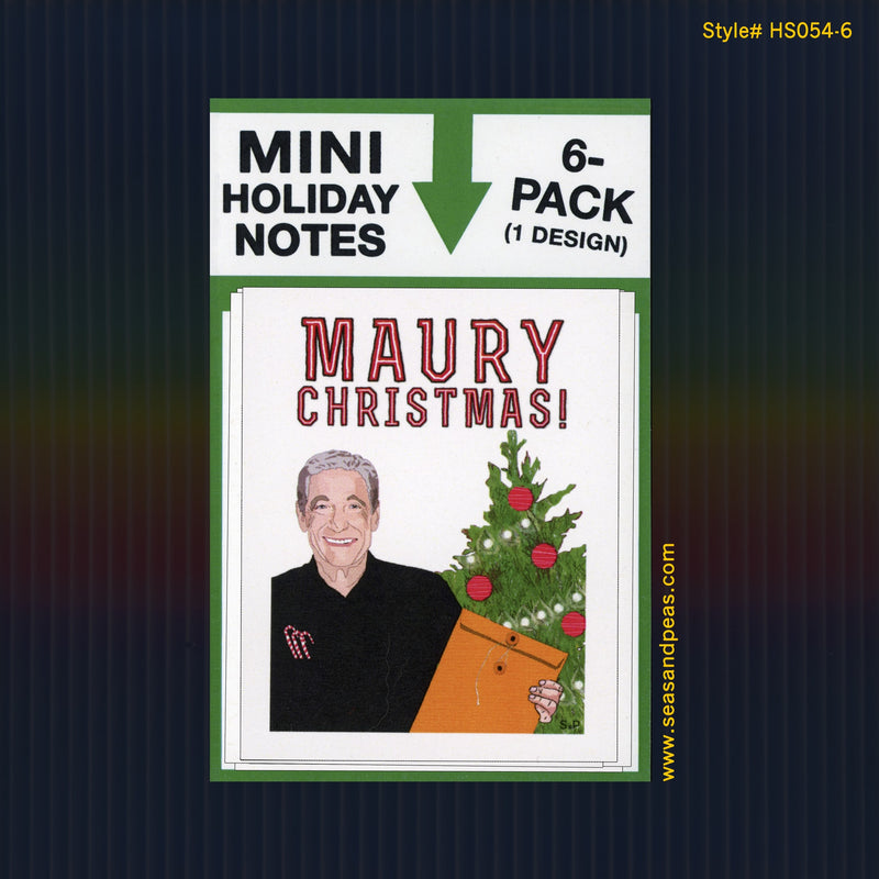 """Maury"" Mini Flat Christmas Notecard Set"