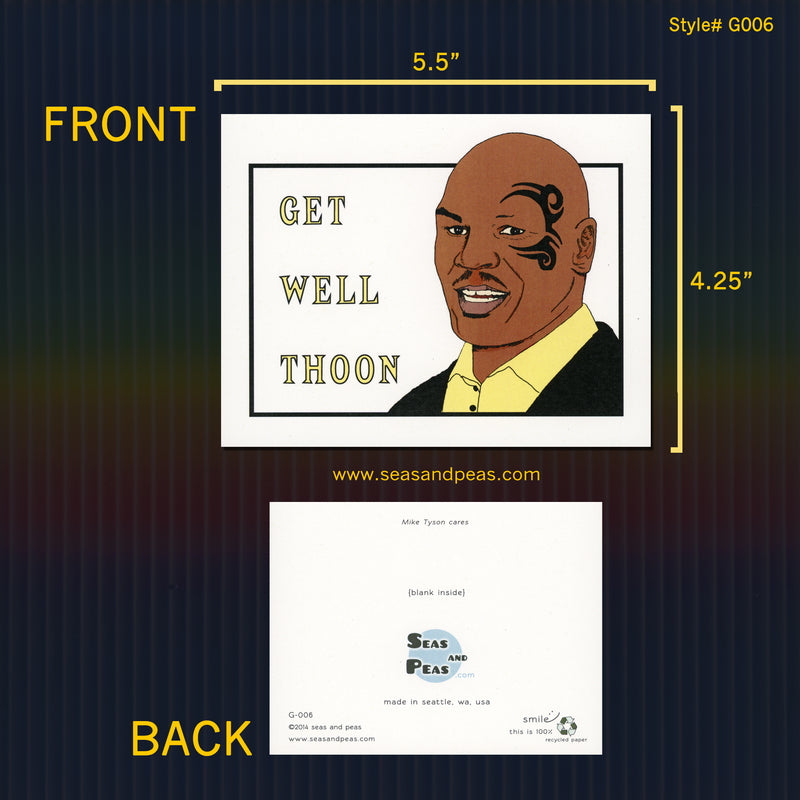 Mike Tyson Get Well Card - Seas and Peas