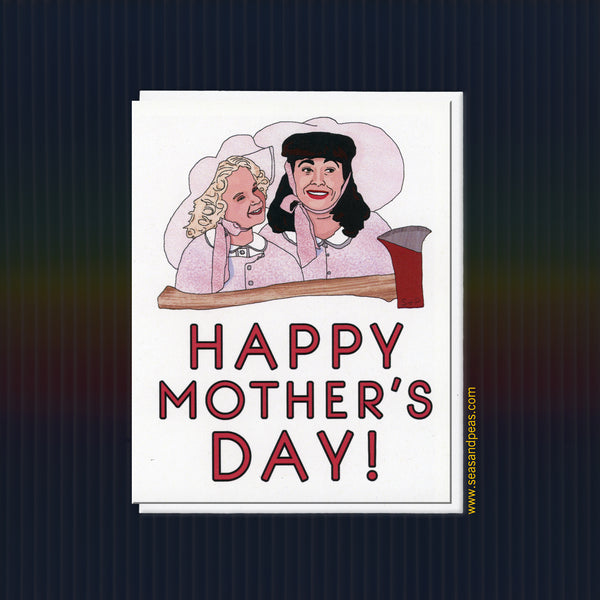 """Mommie Dearest"" Mother's Day Card - Bring Me the AXE! - Seas and Peas"