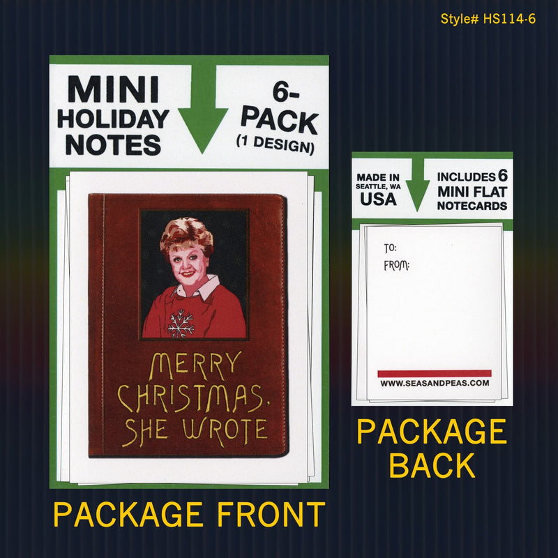 """Murder, She Wrote"" Mini Flat Christmas Notecard Set"