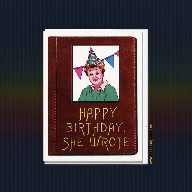 """Murder, She Wrote"" Birthday Card - Seas and Peas"