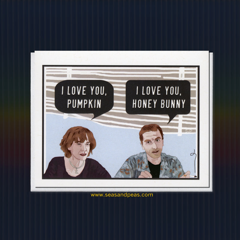 """Pulp Fiction"" Love Card - Seas and Peas"