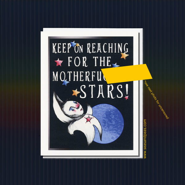 Keep On Reaching Adult Encouragement Card - Seas and Peas
