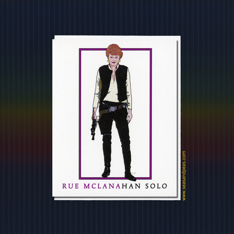 Rue McClanaHan Solo Greeting Card - Seas and Peas