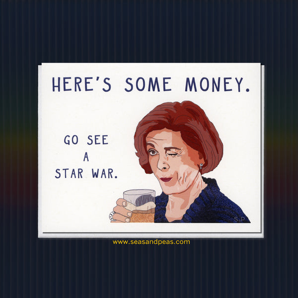 "A Star War ""Arrested Development"" Greeting Card - Seas and Peas"