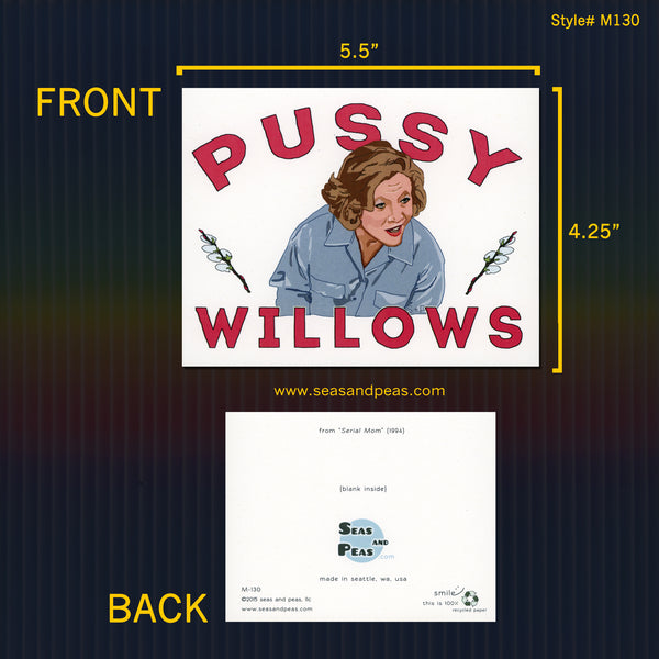 """Serial Mom"" Pussywillows Greeting Card - Seas and Peas"
