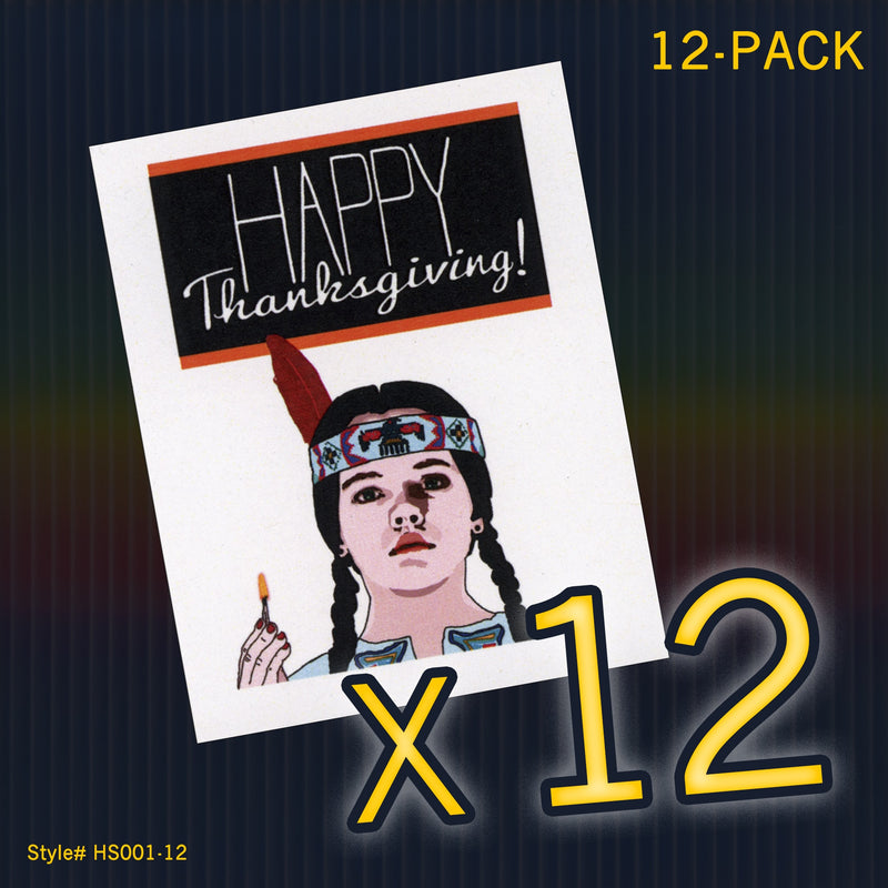 """Wednesday Addams"" Mini Flat Thanksgiving Notecard Set"