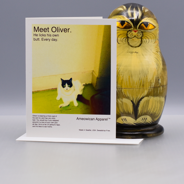 Ameowican Apparel Greeting Card