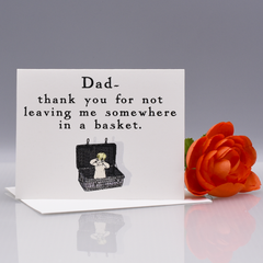 In a Basket Dad Thank You Card