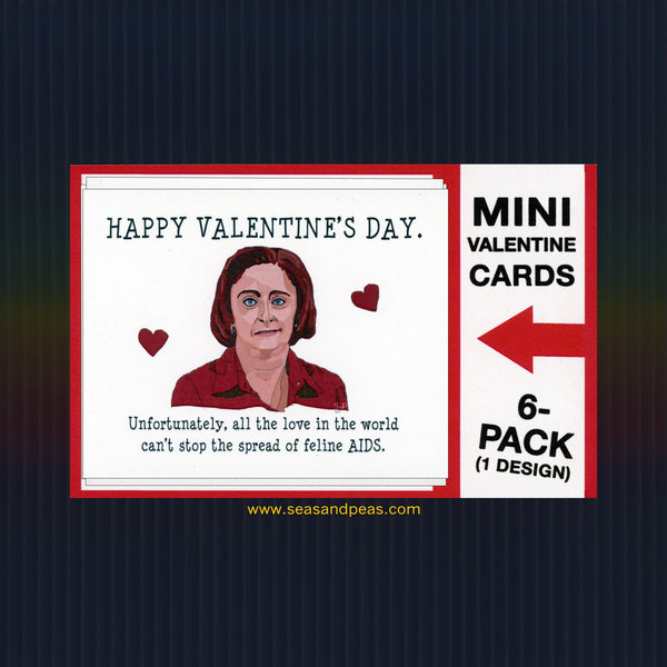 """Debbie Downer"" Mini Flat Valentine Notecard Set"