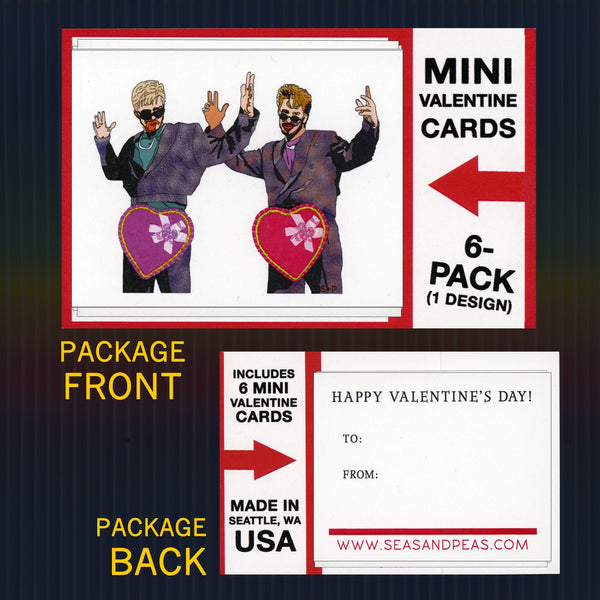 """Dick in a Box"" Mini Flat Valentine Notecard Set"