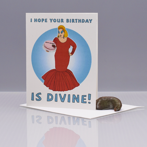 "Divine ""Pink Flamingos"" Birthday Card"