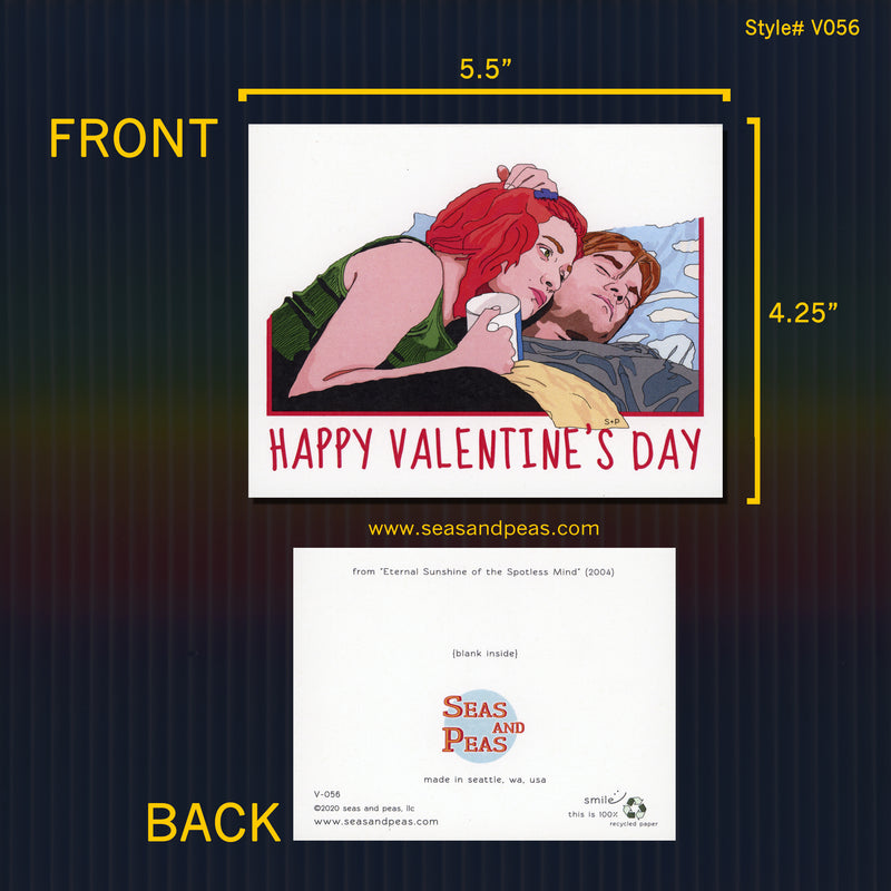 """Eternal Sunshine of the Spotless Mind"" Valentine Card - Seas and Peas"