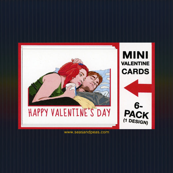"""Eternal Sunshine"" Mini Flat Valentine Notecard Set"