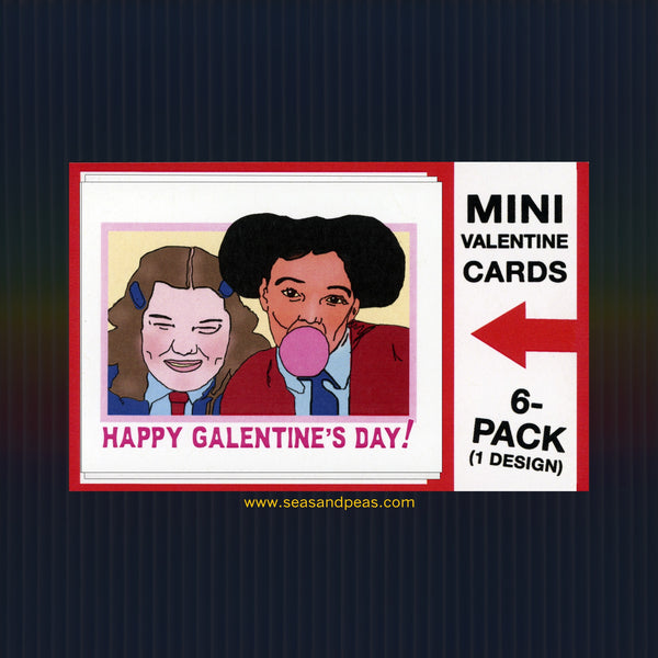 """The Facts of Life"" Mini Flat Galentine Notecard Set"