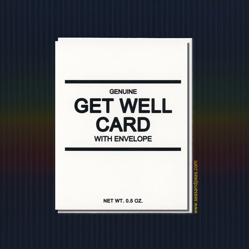 Generic Get Well Card - Seas and Peas