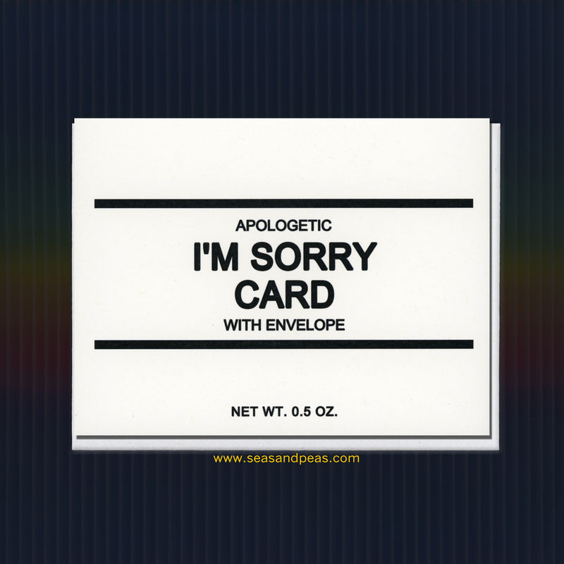 Generic I'm Sorry Card - Seas and Peas