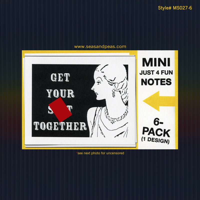 """Get Your Sh*t Together"" Mini Flat Notecard Set"