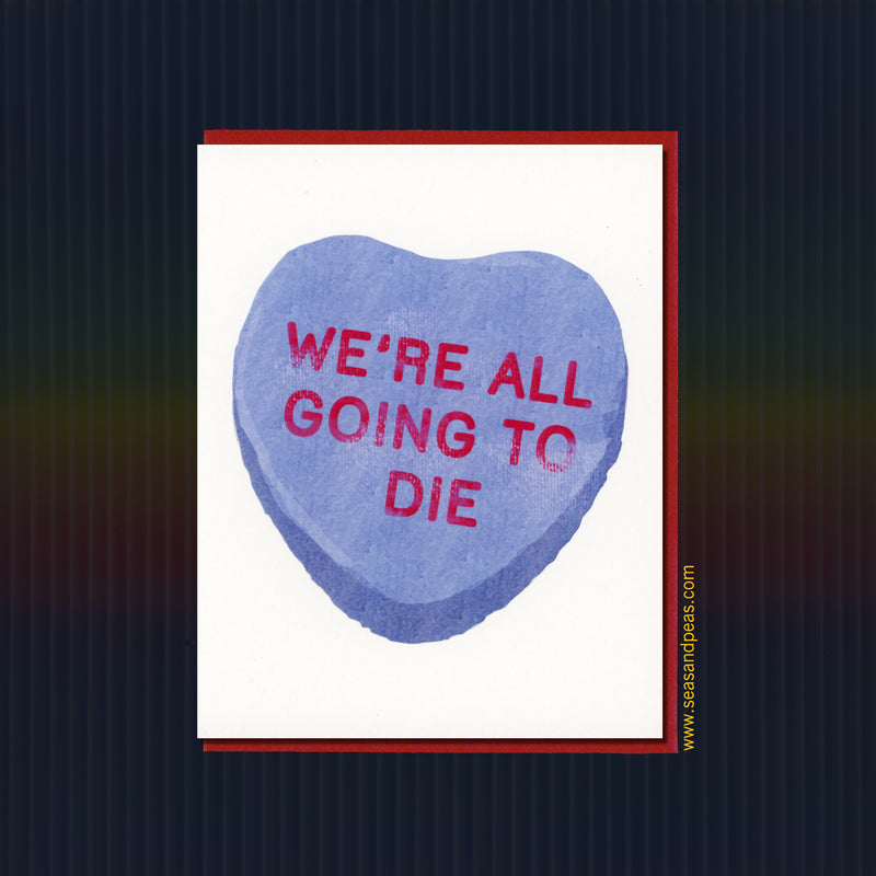 Goth Conversation Heart Valentine Card - Seas and Peas