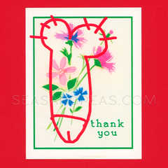 Vandalized Thank You Card
